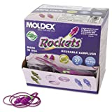 Rockets Individually Wrapped Reusable Corded Ear Plugs (Set of 50)
