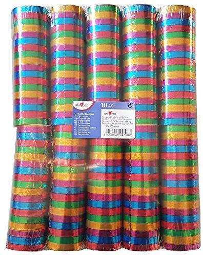 'Susy Card 40016269stelle filanti'Metallic, carta, da un lato con schermo placcato, vari colori, 10rotoli eingeschweisst, lunghezza: 4m