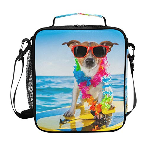 FANTAZIO - Fiambrera aislada Jack Russell Terrier perro Surf almuerzo organizador