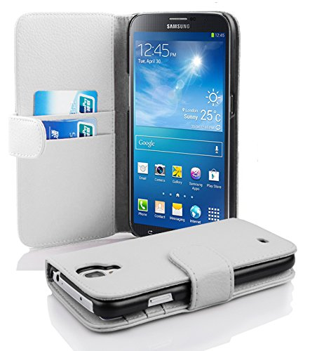 Cadorabo Samsung Galaxy Mega 6.3 Funda de Cuero Sintético Estructura en Blanco...