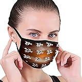 NA Fashion Outdoor Mundmaske, Unisex Halloween Flachmuster gruselige Geister Spinnen Nebel Web Flachmuster Geister Spinnennebel Gemälde