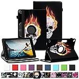 NAUC Tablet Tasche für Medion Lifetab P10710 P10610 P10603 P10606 P10602 P9702 Hülle Schutzhülle Universal Kunstleder Standfunktion 360 Drehbar, Farben:Motiv 9