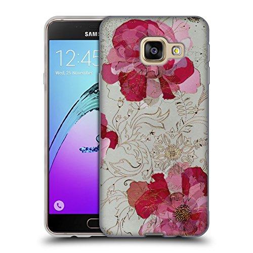 Head Case Designs Offizielle Turnowsky Rose Absolut Nebel Soft Gel Huelle kompatibel mit Samsung Galaxy A3 (2016)