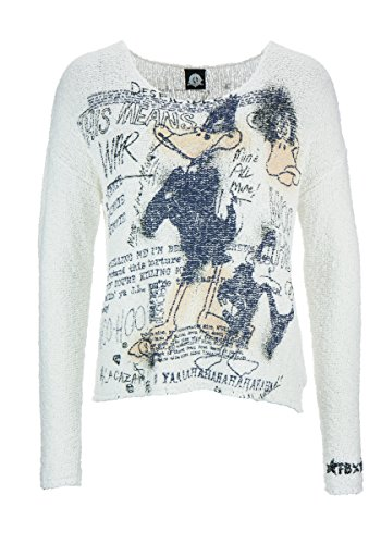 FROGBOX Damen Pullover Duffy Duck Angry 868-869905 34 1160 Offwhite