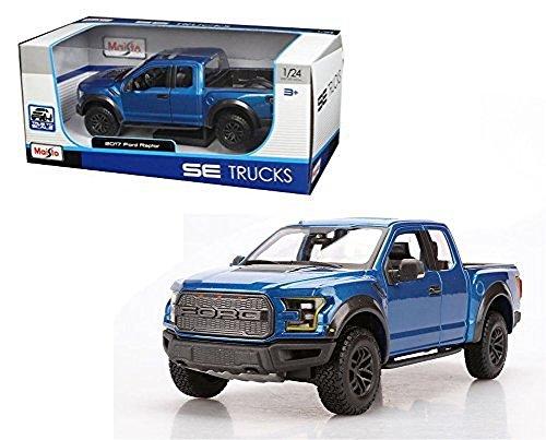 Maisto New 1:24 W/B Special Trucks Edition - Blue 2017 Ford Raptor Diecast Model Car