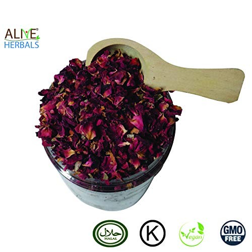 Alive Herbal Organic Dried Red Rose Buds and Petals (4 oz. Organic Dried Red Rose Buds and Petals)