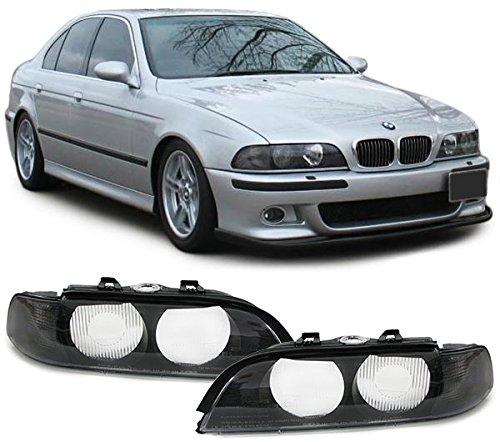 Carparts-Online 22516SET Streuscheiben Scheinwerferglas Blinker schwarz für Xenon Paar
