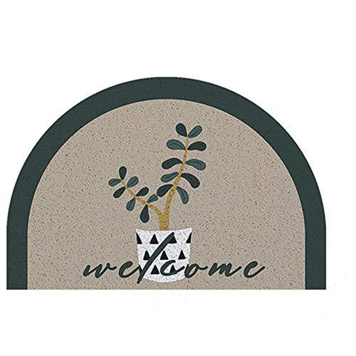 WJXBoos Semicírculo Felpudo,Súper Grande Alfombra De Bienvenida,Interior Al Aire Libre Alfombra De Entrada, PVC Alfombra para Entrada Puerta Decoración