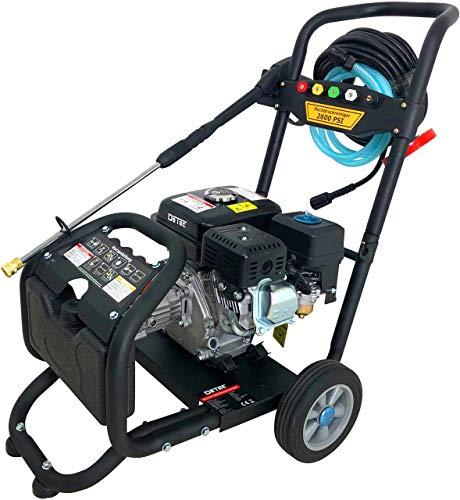 Hogedrukreiniger op benzine, maximale 220 bar – 3000 psi, 7 pk motor met 210 cc, 5 sproeiers inclusief