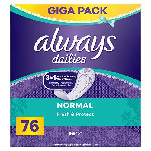 Always Fresh & Protect Normal Slipeinlagen, 76 Stück