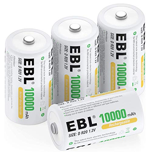 Our #4 Pick is the EBL D Size Batteries