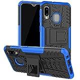 Galaxy A10E Case, Samsung A10E Case, SKTGSLMY [Shockproof] Tough Rugged Dual Layer Protective Case Hybrid Kickstand Cover for Samsung Galaxy A10E (Blue)