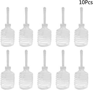 HEALIFTY 10Pcs 200ml Enema Bulb Anal Cleaning Portable Disposable Clear Enema Douche Applicator Bottle Anal Applicator Cleaning Tool for Adult (Transparent)