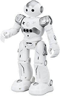 Virhuck R2 Smart Remote-Controlled Robot Toy for Kids with Music Lights, Walking   Singing   Dancing   Gesture Sensor   Obstacle Avoidance   Auto Display, Grey