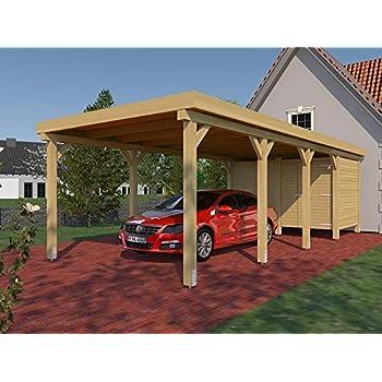 Carport Satteldach Le Mans I 350cm X 600cm Kvh Bausatz M Statik Konstruktionsvollholz Amazon De Auto