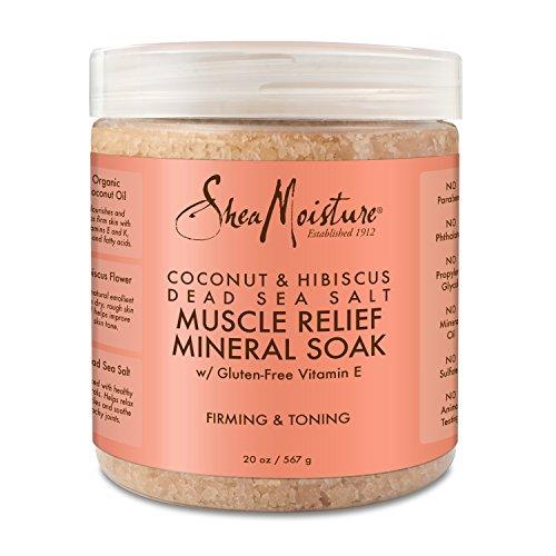 Price comparison product image Shea Moisture Coconut & Hibiscus Dead Sea Salt Muscle Relief Mineral Soak for Unisex,  20 Ounce