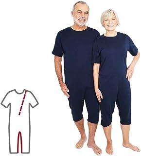 Pflegeoverall für Männer und Frauen relax kurz mit Bein- und Rückenreißverschluss Demenz Overall ActivePro L