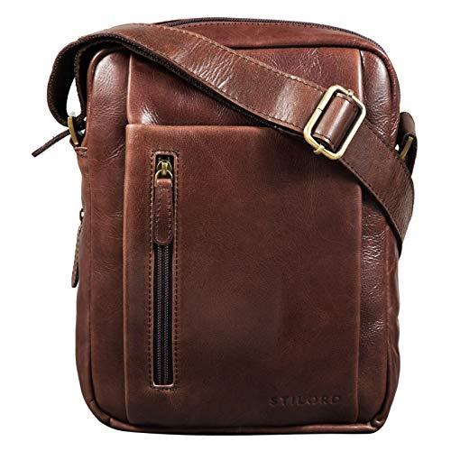 STILORD 'Irving' Bolso de Hombro Piel Crossbody Bag Vintage Bolsa Bandolera Bolso...