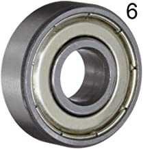 Six (6) 608ZZ 8x22x7 Shielded Greased Miniature Ball Bearings