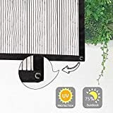 L.TSN Schattennetz Schatten Stoff 75% Pflanzen Schatten Netz, für Hof Dach Balkon Terrasse, Schutz...