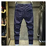Feketden Männer's Jeans Trend Slim fit beautiful elastische Männer's Pants Trend Marke lässig...