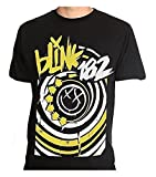 Apparel Blink 182 - Happy Face Logo - Men's T-Shirt Black (Large)