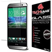 TECHGEAR HTC One M8 & M8s GLASS Edition Genuine Tempered Glass Screen Protector Guard Cover (HTC One M8/M8s)
