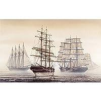 木のパズルのヨット1000個 - 大人のパズルのおもちゃ5000個のピースパズル 0126 (Color : A, Size : 300 pieces)