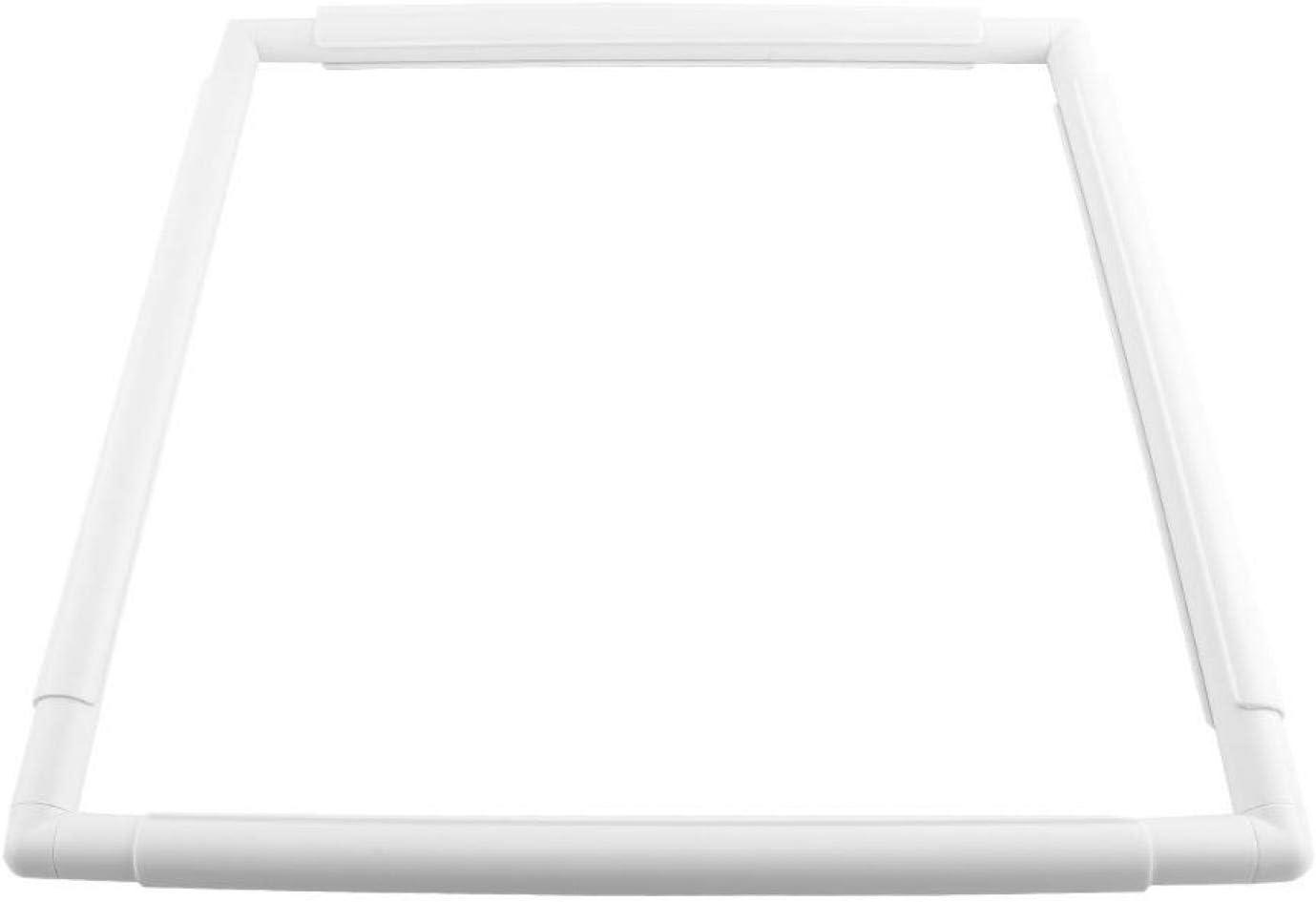 20.3 * 20.3cm Oumefar Kreuzstichrahmen Rechteck Kunststoff-Cliprahmen f/ür Handstickerei Cross Art Craft N/ähenstich Quilten Nadelspitzenwerkzeug