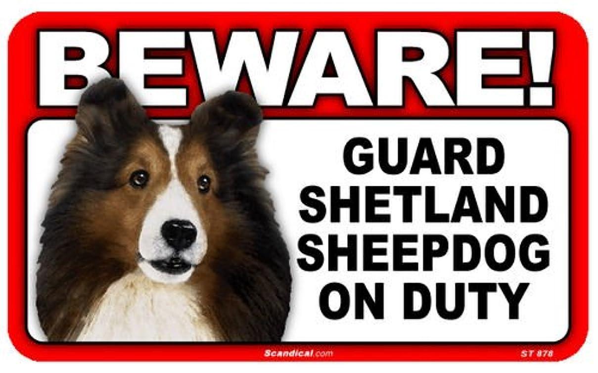 マインドアプローチ不条理BEWARE!SHETLAND SHEEPDOG ラミネートサイン:シェットランドシープドッグ 注意 警戒中 Made in U.S.A [並行輸入品]