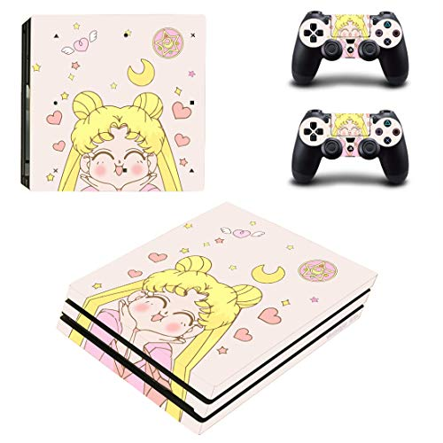 Decal Moments PS4 Pro Console Controllers Skin Vinyl Decals Stickers for Playstation 4 Pro (PS4 Pro Only) Sailor Moon