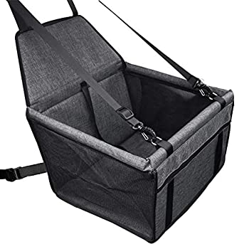 Tohilkel Pet Booster Seats Portable Waterproof Foldable Dogs or Cats Car Seat with Seat Belt Suitable for Dogs up to 15 lbs Used on Cars/SUV etc.