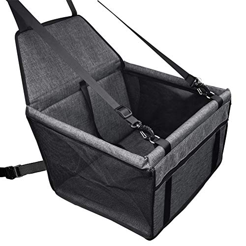 Tohilkel Pet Booster Seats, Portable Waterproof Foldable Dogs or Cats Car Seat with Seat Belt, Suitable for Dogs up to 15 lbs, Used on Cars/SUV etc.