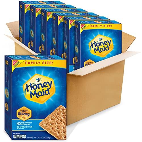Honey Maid Honey Graham Crackers, Family Size, 6 - 25.6 oz...