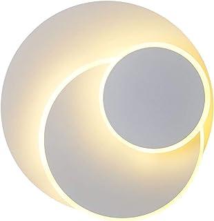 Applique 15W LED,Eclipse Créatif,Murale Lampe,Luminaire Intérieur Blanc Chaud,Aluminium Décoratif,Eclairage Lumière,Pour H...