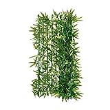 Pureday Haie Artificielle Brise Vue Bambou, Ajustable par Coupe, Vert, larg.3 x Haut.1 m env.