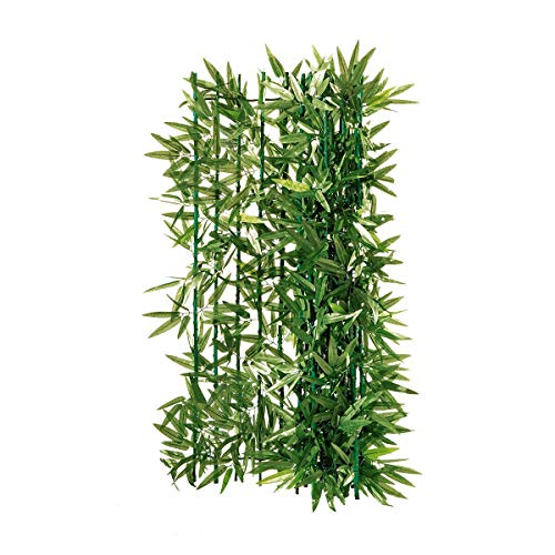 Pureday Balkon-Sichtschutz Bambus zuschneidbar grün ca. 3 x 1 m
