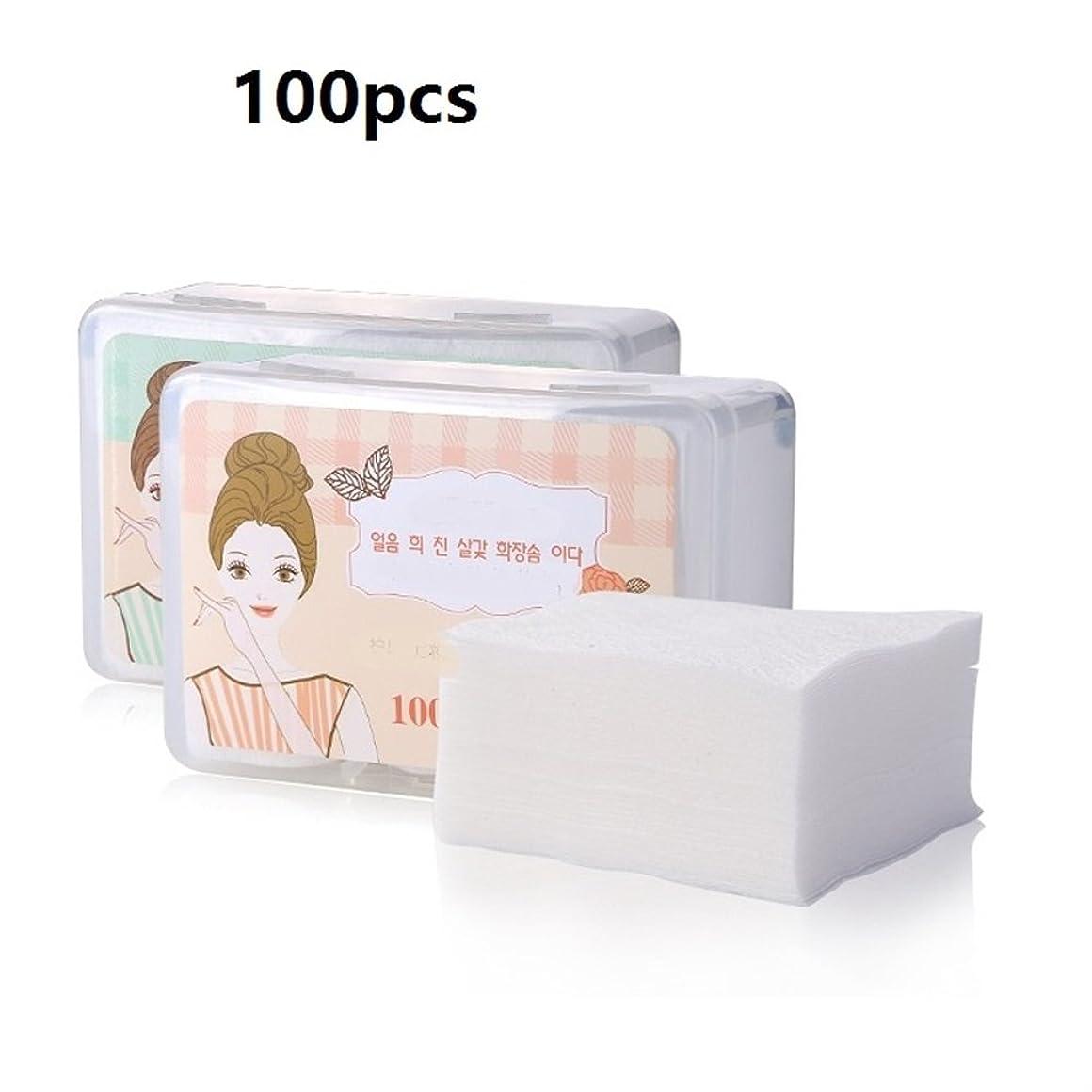 ブラストフェリーカブAorunji 柔らかい ソフトコスメティックコットンパッド高品質のネイルワイプフェイシャルメイクリムーバクリーニングコットン(Appr.100pcs)