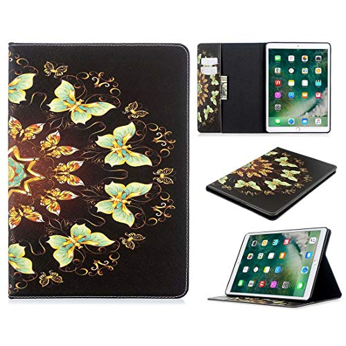 Protective Tablet PC Shell Pattern Flip Protection PU Leather Wallet Tablet Case For iPad Pro 10.5 2017/2019 Magnetic Ultra-thin Anti-drop Bracket Card Slot Case (Color : Semicircle butterfly)