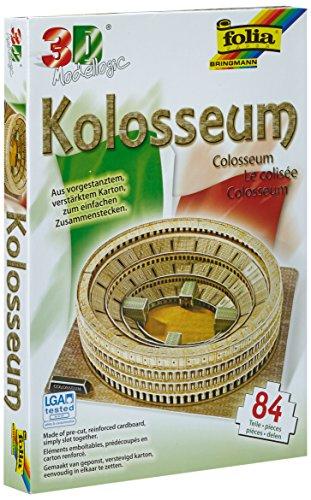 aur Folia 34008 - Modello 3D-Modellogic, 84 Pezzi, Il Colosseo di Roma