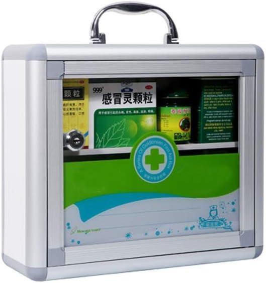 Lxrzls Aluminum Regular discount First Aid Kit Fam Locker Charlotte Mall Home Medicine