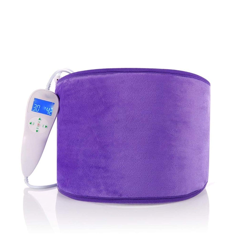 洗練収穫はず背中の痛みとけいれんの救済のための加熱腰パッドは、男性と女性にフィット 腰痛保護バンド (色 : 紫の, サイズ : Free size)