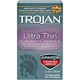Sensitivity Ultra Thin Spermicidal Lubricant Premium Latex Condoms, Pack of 4