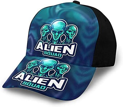 Alien Baseball Caps Snapback Hoed Sporthoed Zonnebeschermende Auto Racing Motor Hoed voor Running Jacht Camping Fietsen Vissen Outdoor Sport Zwart
