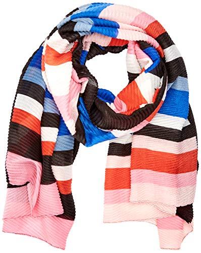 PIECES Damen PCSUMMER LONG SCARF Schal, Mehrfarbig (Black Black), (Herstellergröße: One Size)