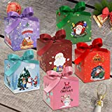 Gift Box 24 Pcs Christmas Boxes 4 x 3.5 x 3.5 Inches,3D Small Gift Boxes With Bow,Candy Boxes Party...