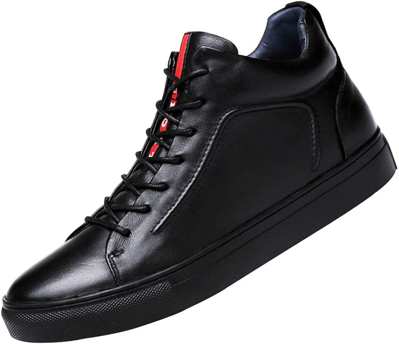 FuweiEncore Men's Business Casual shoes Derby shoes Warm Cotton Lace Martin Boots (color   1, Size   42EU)