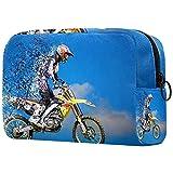 Bolsa de maquillaje, bolsa de cosméticos portátil, bolsa de tolietry de viaje, bolsa de maquillaje grande para mujeres y niñas motos de nieve 01