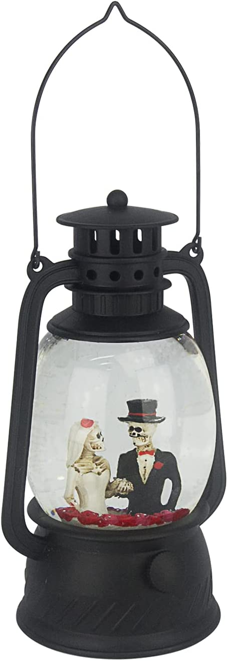 Evelyne Max 74% OFF GMT-10334-D The Skeleton Wedding Save money Halloween Globe - Snow