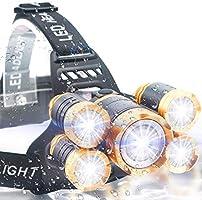 【進化版】LEDヘッドライト 12000ルーメン USB充電式 センサー 電気出力 4モード 高輝度LED 三眼ライト 作業灯 登山 釣り ランニング 夜釣り キャンプ ヘルメットライト ランタン PSE認証 18650リチウムイオン蓄電池 2本付属